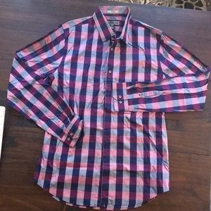 Express Fitted Checker Button Down